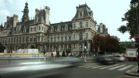 巴黎,法国- 2017年10月8日 安置地方管理的Hotel de Ville或香港大会堂 库存照片