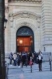 巴黎,法国- 02/10/2015:巴黎大学,索邦学院 免版税库存照片