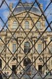 巴黎,法国- 02/08/2015:罗浮宫的看法 库存照片