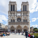 巴黎,法国- 10月2 : 在20的10月2日, Notre Dame大教堂 免版税库存图片