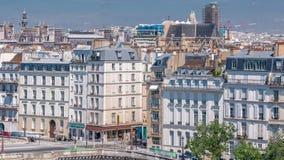 巴黎timelapse全景  从阿拉伯世界Institute Institut du Monde Arabe大厦的看法 法国 股票视频