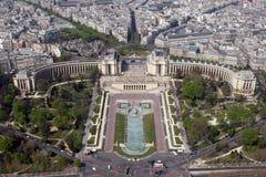 巴黎trocadero 库存照片