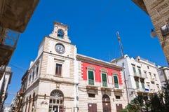 巷道。普蒂尼亚诺。普利亚。意大利。 免版税库存图片