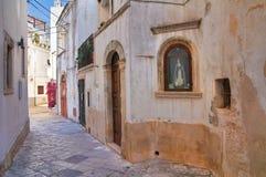 巷道。Noci。普利亚。意大利。 免版税库存照片