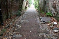 巷道在查尔斯顿, SC 库存图片