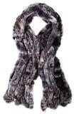 围巾由毛皮制成 库存图片