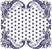 围巾的佩兹利装饰品 免版税库存照片