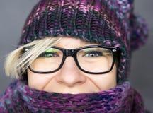 围巾的妇女 免版税库存照片