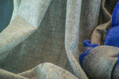 围巾织品PASHMINE灰色 免版税图库摄影