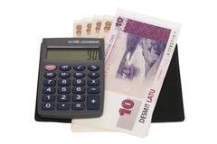 货币和计算器 库存照片