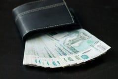 货币在钱包里 库存照片