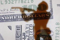 货币战争 库存照片