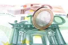 20 50 100 500货币欧洲欧洲 库存照片