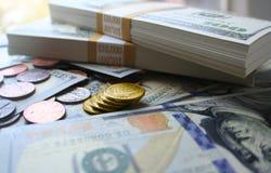 货币流通量照片 免版税库存图片