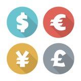 货币现代平的象 库存照片