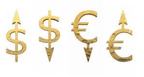 货币的标志 库存图片