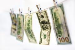 洗货币的清洁干燥欧元洗涤 免版税图库摄影