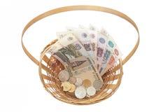 货币篮子 免版税图库摄影