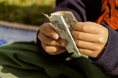 货币计数 免版税库存照片
