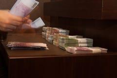 货币计数 免版税图库摄影