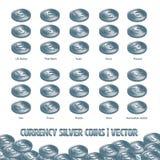货币银币合金例证和背景 库存例证