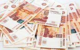 货币 俄罗斯卢布 库存图片