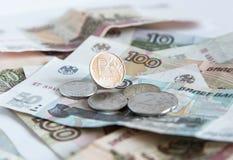 货币 俄语的卢布 库存图片