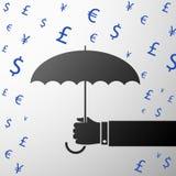 货币 背景明亮的例证桔子股票 免版税图库摄影