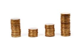 货币 背景铸造白色 图库摄影