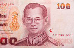 货币100浴 免版税图库摄影