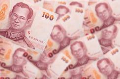 货币100浴 库存图片