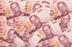 货币100浴 库存照片