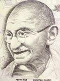 货币gandhi mahatma附注 免版税库存图片