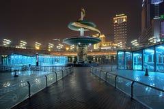 市中心在晚上,成都,中国 库存图片