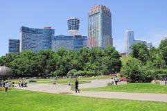 市中心的旅馆的看法 免版税图库摄影