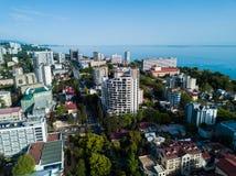 市中心鸟瞰图  库存照片