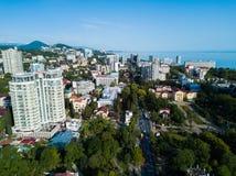 市中心鸟瞰图  免版税图库摄影