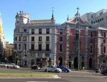 市中心-更加方形的独立-马德里,西班牙 库存照片