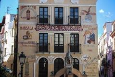 市伊格莱斯,镇,撒丁岛,意大利,欧洲的老部分 免版税库存图片