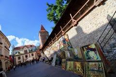 市克拉科夫,老镇中世纪设防 免版税库存图片