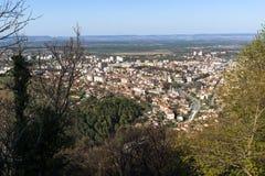 市全景舒门,保加利亚 库存照片