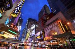 市区曼哈顿新的剧院约克 免版税图库摄影