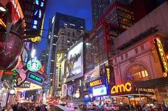 市区曼哈顿新的剧院约克 免版税库存照片