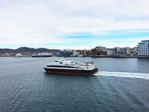 市博多在挪威 免版税库存图片