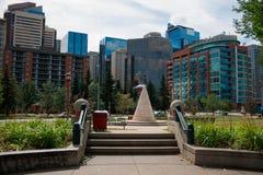 市卡尔加里亚伯大加拿大 免版税库存照片