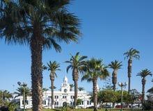 市和港阿里卡在智利的阿塔卡马大区 免版税库存图片