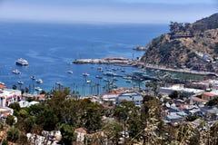 市在圣卡塔利娜海岛上的Avalon 库存图片