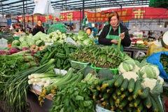 市场上海蔬菜 免版税图库摄影