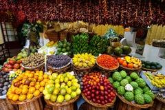 市场丰沙尔,马德拉岛霍尔  免版税库存图片