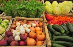 市场停转蔬菜 免版税库存图片